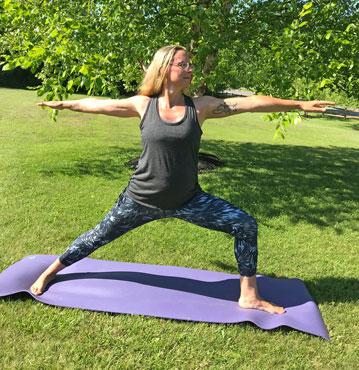 Gail Sookey Warrior pose